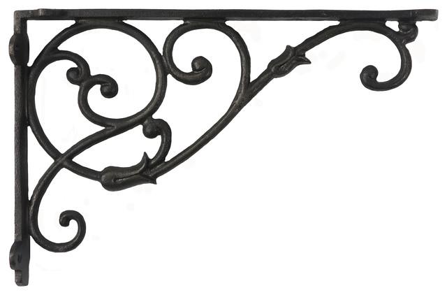 cast iron corner bracket  12 u0026quot  - rustic - brackets