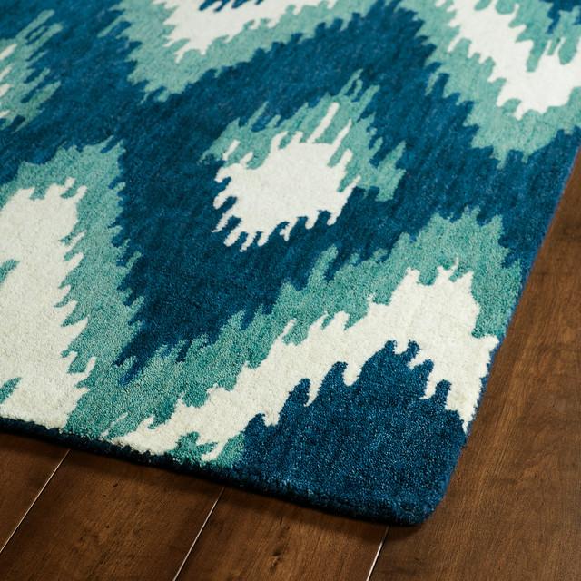 Kaleen Helena Turquoise Rug: Kaleen Global Inspirations Glb10 Blue Area Rug