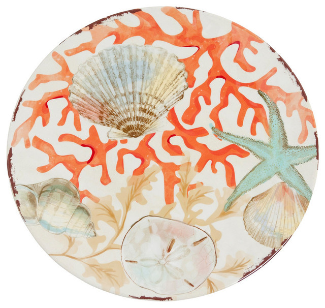 Galleyware Reef Melamine Dinner Plates Beach Style  : beach style dinner plates from www.houzz.com size 640 x 606 jpeg 125kB