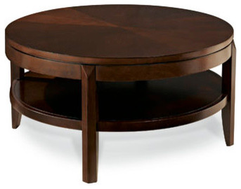Hammary Tribecca Round Cocktail Table In Root Beer