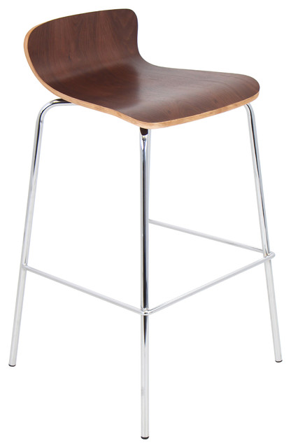 Lumisource Wood Bar Stool Stacker in walnut Contemporary  : contemporary bar stools and counter stools from www.houzz.com size 416 x 640 jpeg 27kB