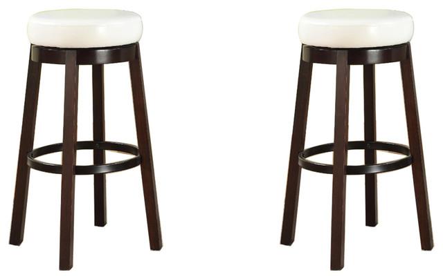 Furnituremaxx Wooden Swivel Barstools Bar Height Set