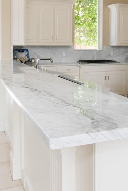 White Marble Kitchen Bianco Carrara Modern K 252 Che