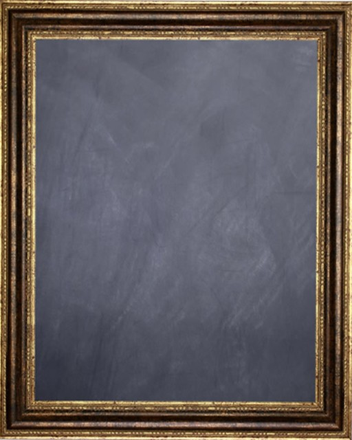 "Framed Chalkboard 16"" X 20"" - With Bronze Finish Frame With Rounded Panel."