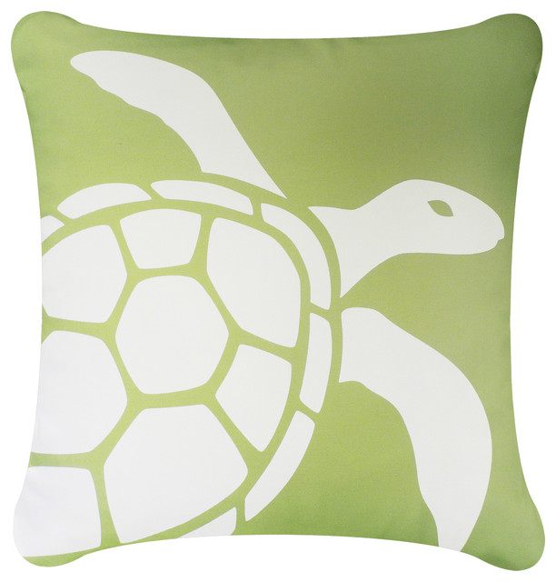 Sea Turtle Eco Coastal Throw Pillow Cover Beach Style Decorative Simple Coastal Throw Pillow Covers