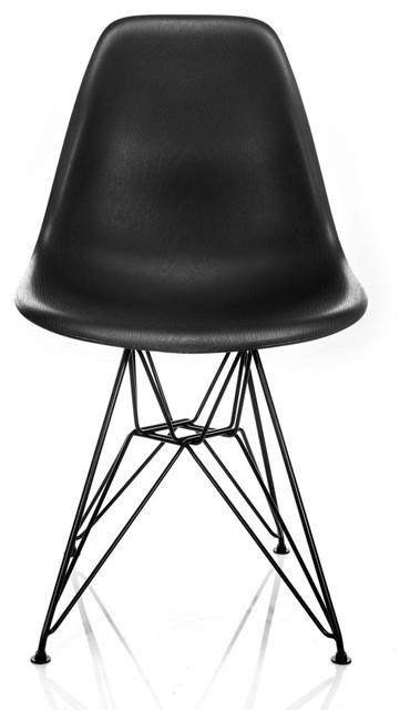 Nature Series Black Wood Grain Dsr Mid Century Modern Chair