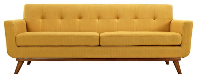 90.5 in. Upholstered Sofa in Citrus