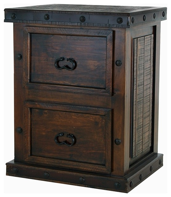 Superbe Old World Rustic Gran Hacienda File Cabinet