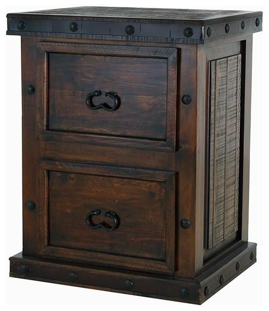 Old World Rustic Gran Hacienda File Cabinet.