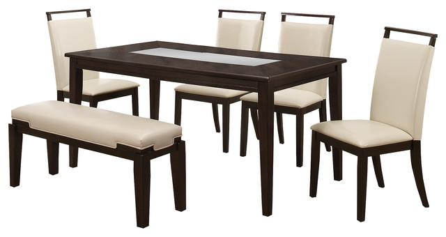 6-Piece Harper Espresso Dining Room Set.