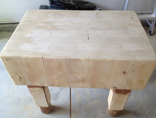 Stain The Sides And Legs But Just Use Mineral Oil On Them Top Surface What About Some Of Splits S Fill Those With Bees Wax