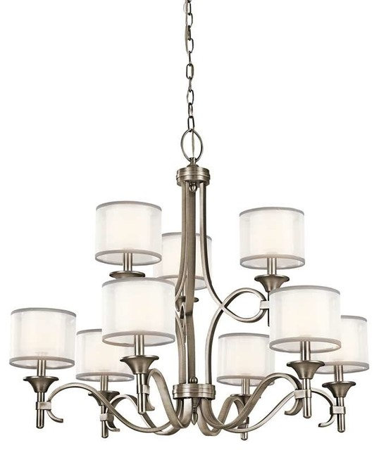 Kichler lighting 42382ap lacey transitional chandelier in antique kichler lighting 42382ap lacey transitional chandelier in antique pewter aloadofball Images
