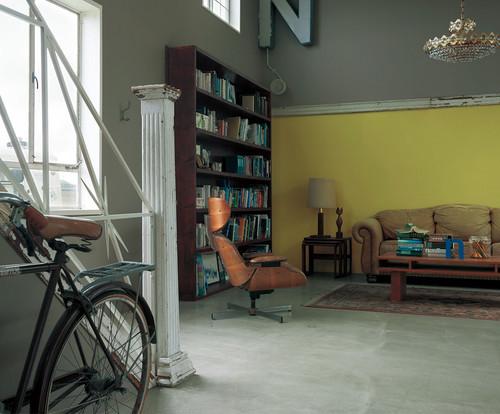 書斎の壁紙の施工事例