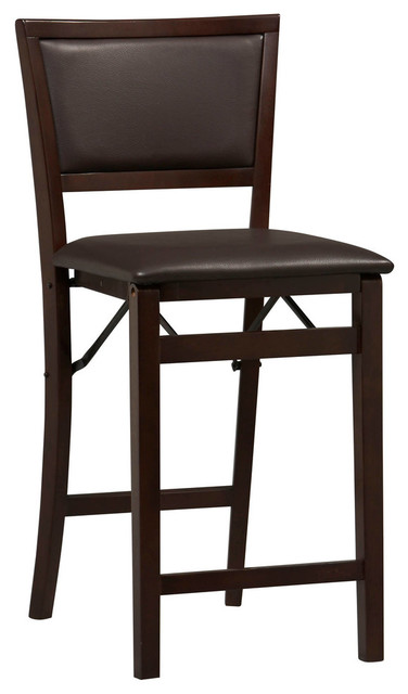 Triena Pad Back Folding Counter Stool 24