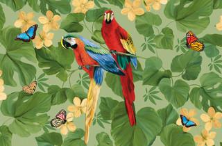 Large Indoor Parrot Gallery Door Mat