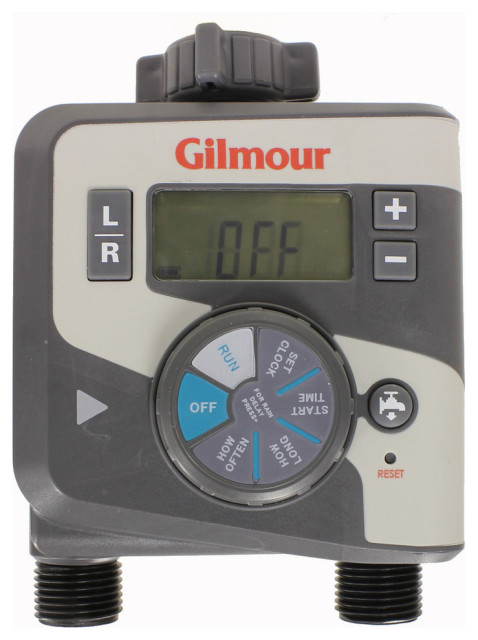 Gilmour Electronic Dual Outlet Water Timer.