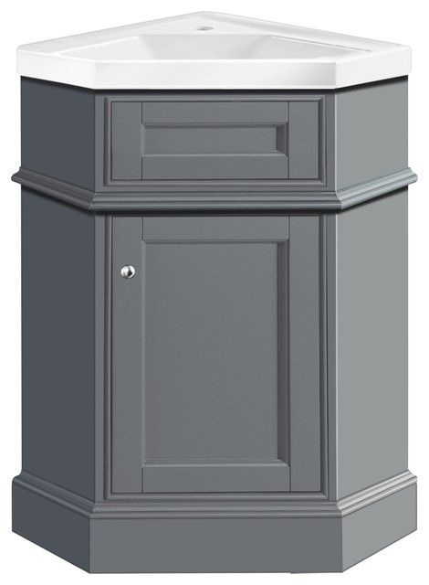 Stufurhome hampton 27 corner bathroom vanity with - Corner bathroom vanities for sale ...