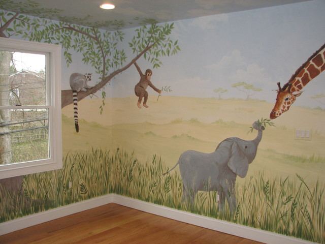 Safari Nursery Mural Traditional New York By Bella