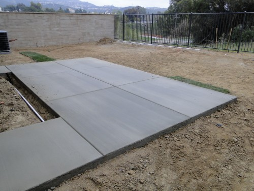 Anyone Have Ideas For This Backyard - Cement backyard ideas