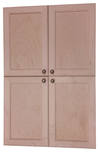 Village Bck On The Wall 4-Door Frameless 24/24 Pantry Cabinet, 5.5x51.