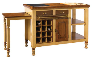 French Heritage Ivory Gourmet Kitchen Island