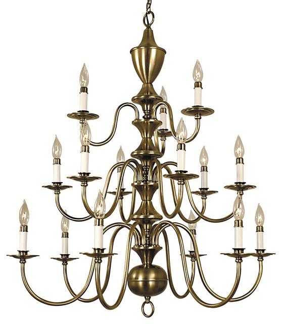 Traditional Foyer Chandeliers : Framburg light jamestown foyer chandelier antique