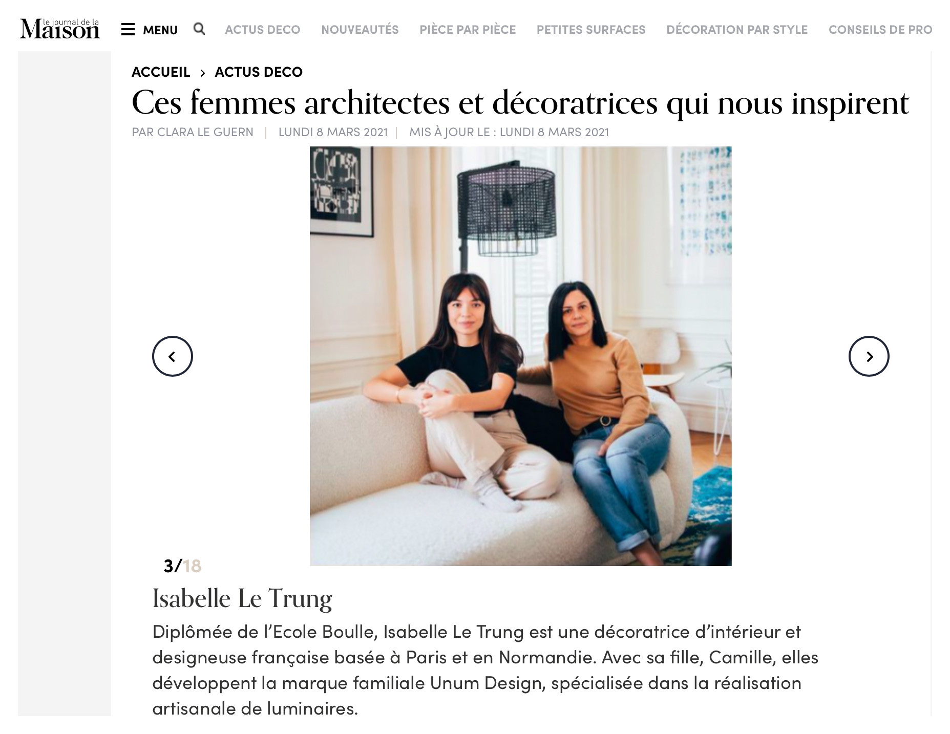 Le journal de la maison // Ces femmes architectes qui nous inspirent