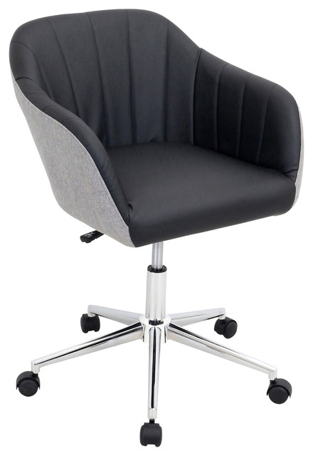 shelton modern office chair, black and gray - contemporary
