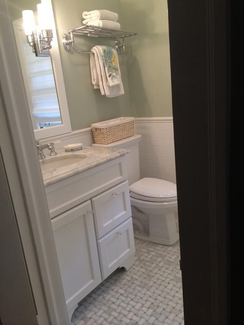 Finished Bathroom Classic Carrara And Subway Tile - Finished bathrooms
