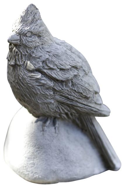 Campania Cardinal Cast Stone Animal Statue Garden Art
