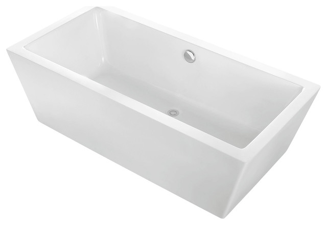 freestanding bath tub. alsen rectangle freestanding bathtub, white acrylic, 59\ bath tub