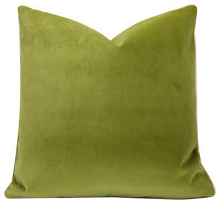 Moss Green Velvet Pillow Cover 20 Quot Contemporary