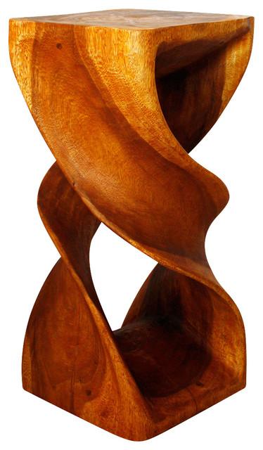 "Haussmann Entry Table Or Stool Double Twist 14""x30"", Oak Oil"