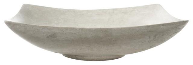 Avanity Rectangular Stone Vessel, Gray Marble Polished
