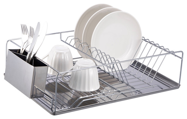 Dish Rack Chrome Stainless Steel Tray.