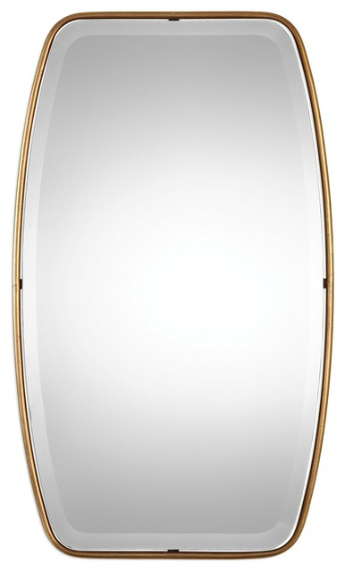 Uttermost Canillo Antiqued Gold Mirror.