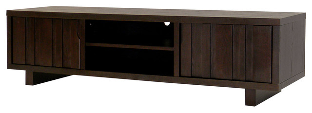 Conrad 3-Shelf Tv Stand, Dark Birch.