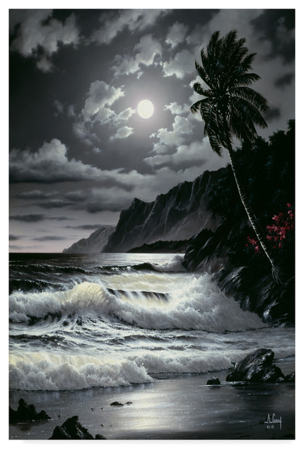 Quot Night Scene 6 Quot By Anthony Casay Canvas Art Tropical