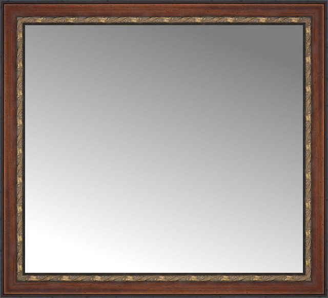 43 X39 Custom Framed Mirror Traditional Wall Mirrors By Posters 2 Prints Llc