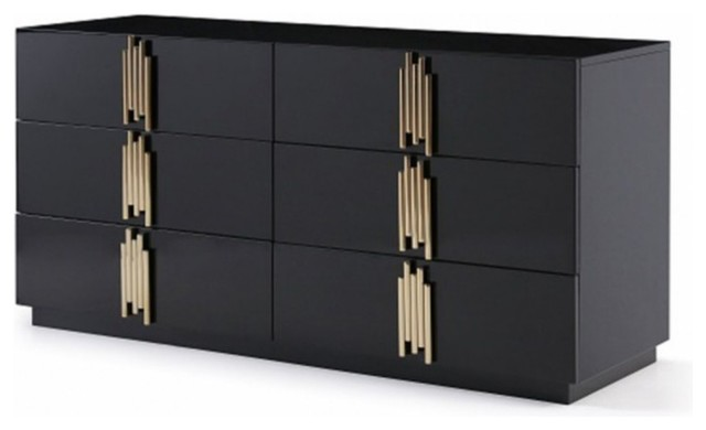 . Modrest Token Modern Black and Gold Dresser