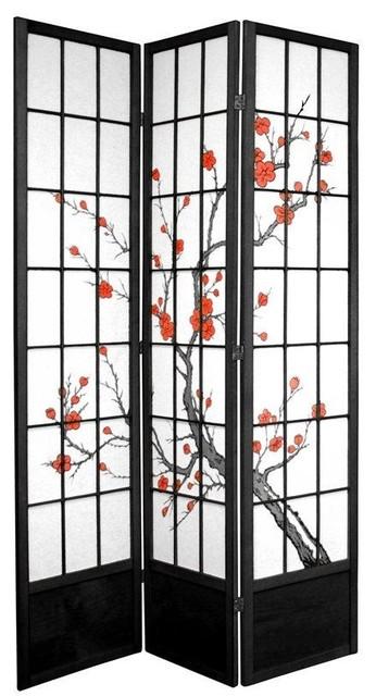 Best Ft Tall Cherry Blossom Shoji Screen Asian Screens And Room With Shoji  Screen.