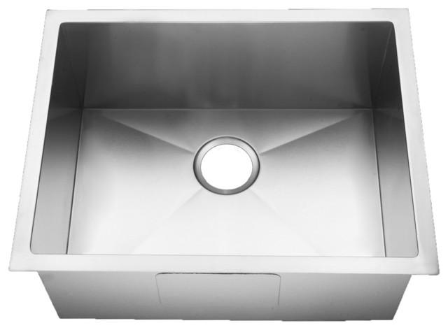 Farmhouse handmade alto 15 gauge stainless steel single - Kitchen sink rim ...