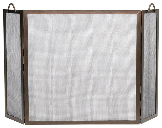 Achla designs achla designs twisted rope folding fireplace screen reviews houzz - Houzz fireplace screens ...