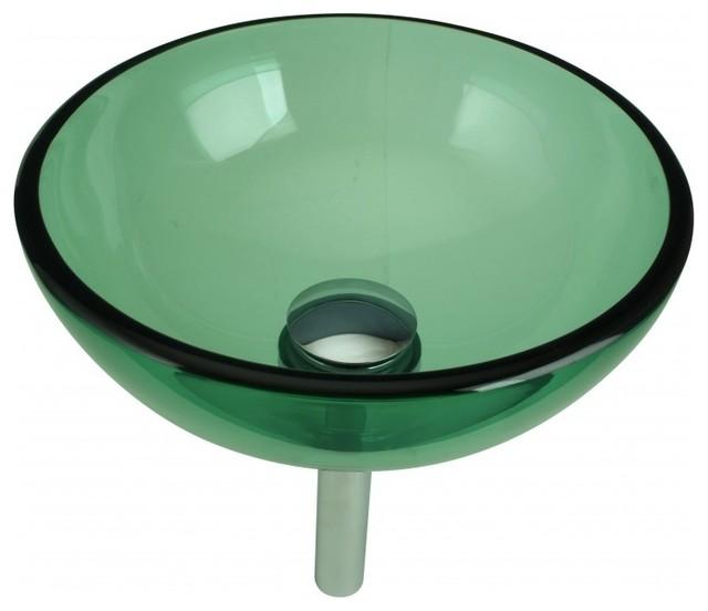 13769 Vessel Sinks Blue Glass Piccolo, Green Glass Vessel Bathroom Sinks