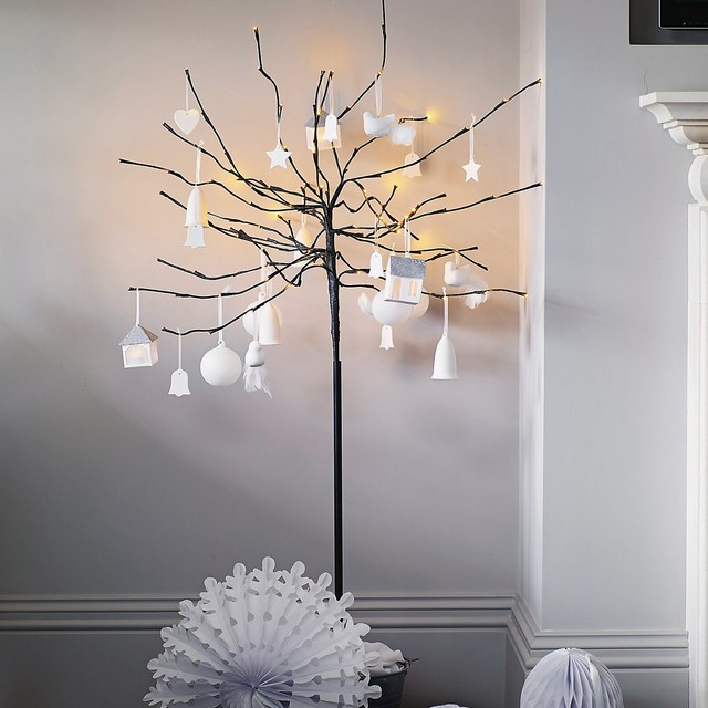 Fairy Lights Wall Decor : Fairy Light Tree - Modern - Christmas Trees - by The White Company