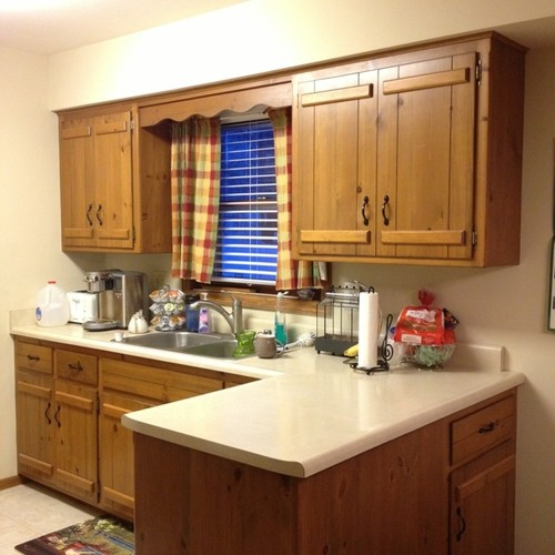 Paint Existing Kitchen Cabinets: Ugly Kitchen Cabinet Makeover