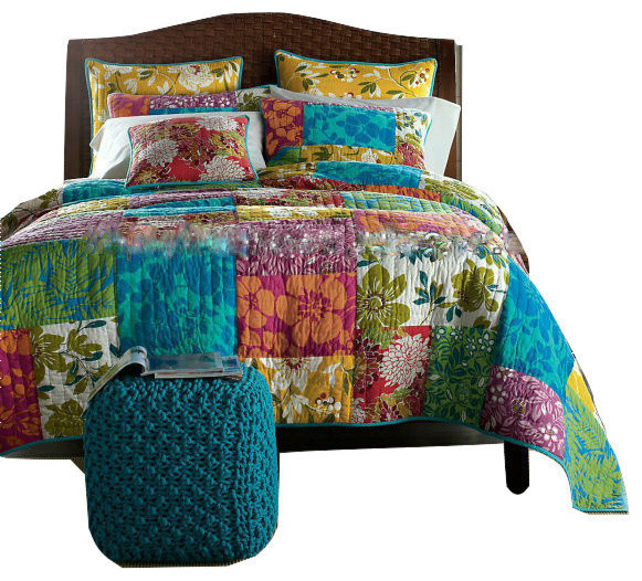Eclectic Quilts and Bedspreads For Your Home   Houzz : colorful quilt sets - Adamdwight.com