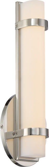 Slice Single LED Wall Sconce, Silver
