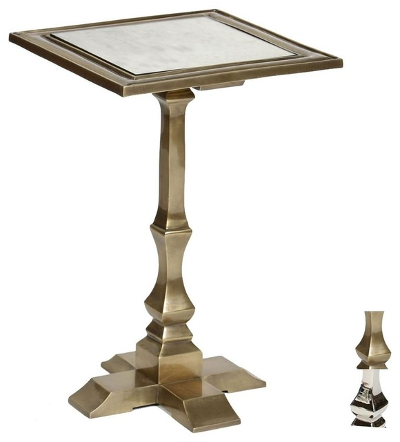 Penley Accent Table With Mirror Top Transitional Side  : transitional side tables and end tables from www.houzz.com size 580 x 640 jpeg 35kB