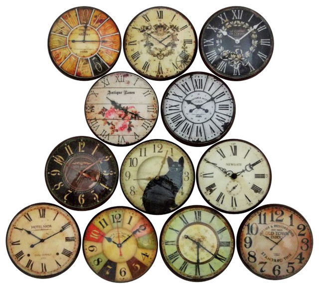 Vintage Style Clock Cabinet Knobs, 12-Piece Set ...